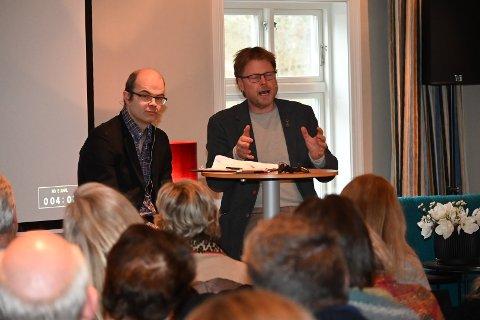 Festivalsjef Hans Olav Lahlum i boksamtale med Jørn Lier Horst