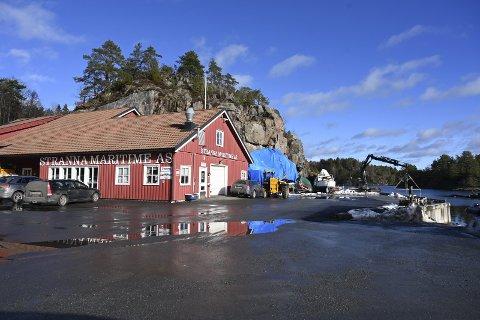 Hanthosundet: Østre Agder Brannvesen ga pålegg om utbedringer etter å ha gjennomført et branntilsyn ved Stranna Maritime tidligere i februar. Foto: Skibsaksjeselskapet Hesvik
