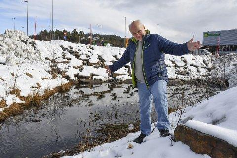 Salamanderdam: Kjell Lunde ønsker å fylle dammen igjen, blant annet for å få mer uteareale til Montèr. Tirsdag kveld ble saken behandlet av politikerne. Arkivfoto