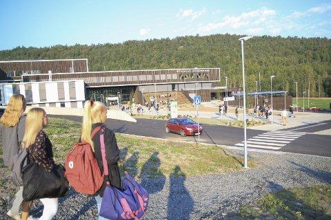 Heller gå enn kjøre: Anette Pedersen i Prosjekt Byløft håper effekten av den planlagte gangveien mellom Bergsmyr og den nye videregående skolen i Mjåvann vil være at elevene heller vi gå til skolen framfor å bli kjørt av foreldrene. Foto: Arkiv/Marianne stene
