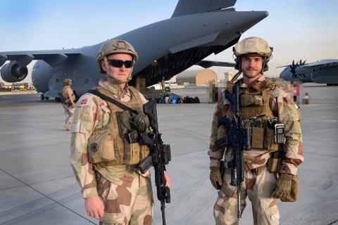 I Kabul: (f.v) Mats Johansen og Tallak Bjorvatten.