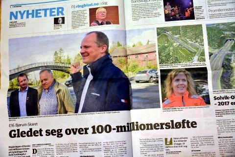 Lekkasje: Samferdselsminister Ketil Solvik-Olsen har gått ut i Ringerikes Blad og kunngjort at det skal løyvast 100 millionar kroner i planleggingsmidlar til ny E16 over Sollihøgda.