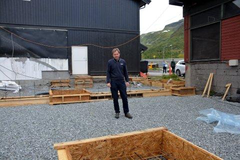 Utbygging: Anders Hermundstad ser frem til å få en større Joker butikk på Tyinkrysset.
