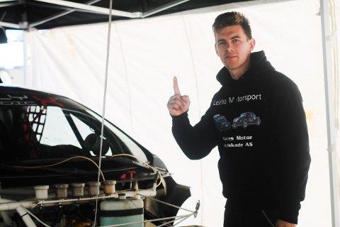 9.plass: Petter Leirhol endte på en 9. plass i sitt første RallyX Nordic, og er etter sigende fornøyd.