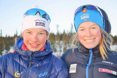 Duo fra Beitostølen: Jo Eivind Nilssen og Hilde Eide representerer Øystre Slidre skiskyttarlag.