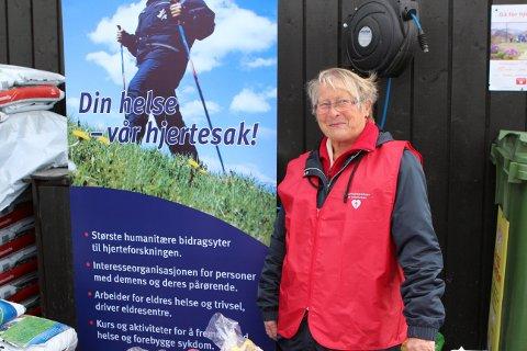 Fra i fjor:  Lisbeth Fagerli Sundvoll på stand for Aurdal helselag.