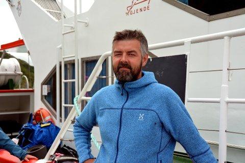 Høge tall: Skipper på Gjendebåtene, Harald Rune Øvstedal, tror han vil klokke inn 70.000 passasjerer totalt i 2018.