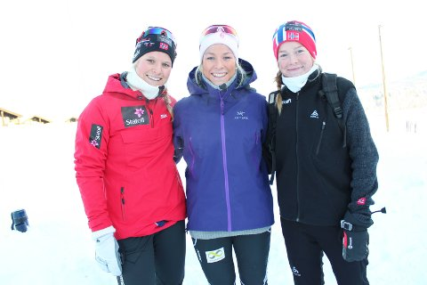 Sammen i sporet: Søstrene Mari (t.v.), Ida og Hilde Eide har alle vært aktive i langrenssporet. Her under Nyttårsrennet på heimebane i Øystre Slidre i 2013.