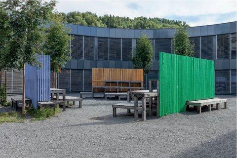 Kunst: Kunstprosjektet Rampa (bildet) på barneskolen på Fagernes, brukes som eksempel i saksutredningen om kunst på nye Nord-Aurdal ungdomsskole.