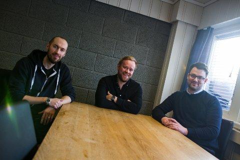 Tress: Ben Ormstad, Dan Olaf J. Rostad og Simen Valdemar Thorsrud i TALA.