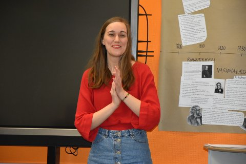 AUF leder Ina Libak Vil skape miljøvennlige arbeidsplasser i Valdres