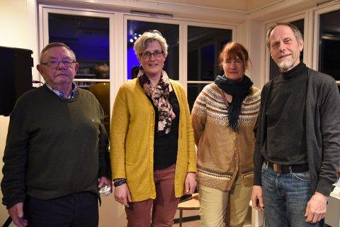 Hovudpersonar:Desse fire drog hovuddelen av kulturkvelden. Frå venstre Johannes Kasa, Anne Lajord Belsheim, Katharina Sparstad og Jon Eggen.