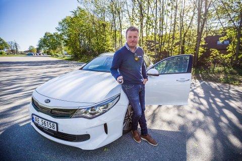TABBE: Tommy Gundersen kjørte avgårde uten bilnøkkel. Det oppdaget han først da han skrudde av tenningen - i Ørje.