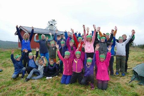 Friluftsskole: I fjor var friluftsskolen meget populær, og barna storkoste seg i fjellheimen.