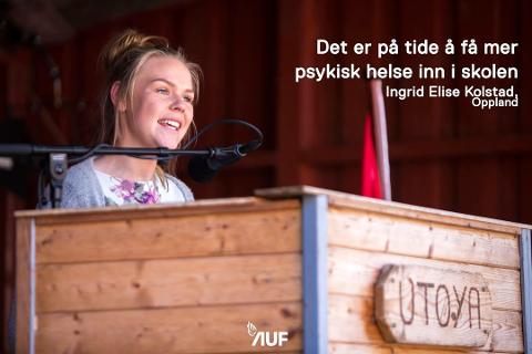 Talefør: Ingrid Elise Klosbøle Kolstad brenner for ungdoms rettigheter og muligheter i lokalsamfunnet. Nå har hun kommet inn i kommunestyret i Nord-Aurdal.
