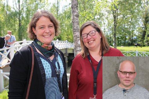 KAN BLI LEDER: Elisabeth Gjems (t.v.) eller Kristina Hegge. Gjems er nåværende fylkesleder i Hedmark Bondelag. Hegge er nåværende fylkesleder i Oppland Bondelag. Ole-Kristian Oldre (innfelt) er innstilt som hhv. 2. og 3. styremedlem, basert på utfallet.