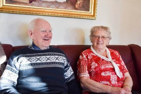 KRONDIAMANT: Gustav og Bjørg Frislie har vært gift i 65 år i år. De har også feiret 90-årsdagen hans, og 85-årsdagen hennes.