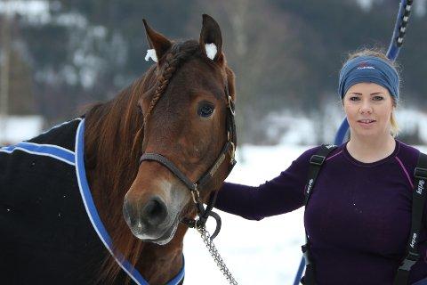 Lovende: Heidi Moen med Horgen Lynet som igjen skal i aksjon i helga.