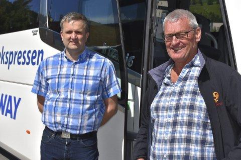 Lang reise: Helge Kvame, administrerende direktør i JVB (t.v.) og styreleder Øivind Langseth kan være fornøyd med første pott av koronastøtte til selskapet.