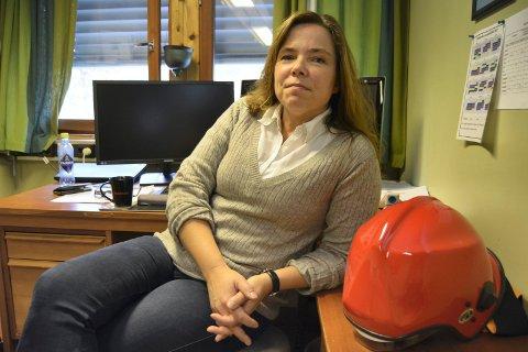 Rykket ut: – Helsetunet har plan for øvelse og opplæring før innflytting og også plan for ytterligere brannøvelser som fullskala- evakueringsøvelser så snart det lar seg gjøre, sier brannsjef Laila Lien Østgård.