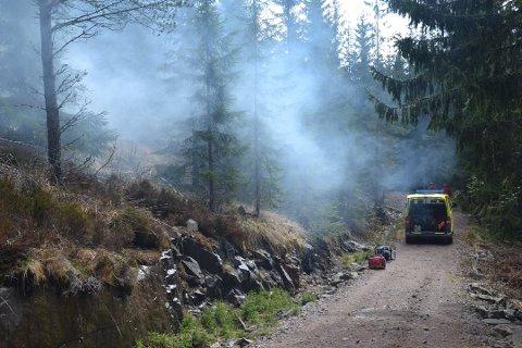 FARLIG: Det er stor skogbrannfare på Romerike nå. Arkivfoto