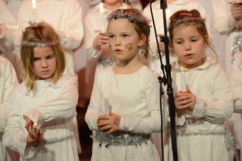 HØYDEPUNKT: Luciakonserten er ett av de store høydepunktene for barne- og ungdomskoret.