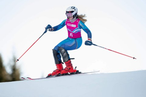 TRE GULL OG TO SØLV: Malin Sofie Sund har på to helger sikret seg fem NM-medaljer i alpint. Her er hun i aksjon under ungdoms-OL i Sveits tidligere i måneden.