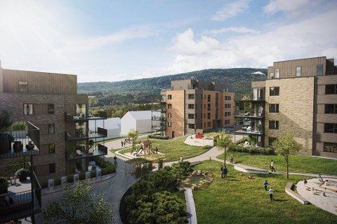 Kvernstua-prosjektet, det eneste nybygget i Nittedal med leiligheter i den lavere prisklassen, skal etter planen være ferdigstilt til sommeren 2022.
