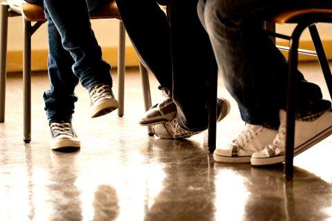 STILLER KRAV: Elevene trives på skolen i Nittedal, men kan tenke seg enkelte endringer i undervisningsformen.
