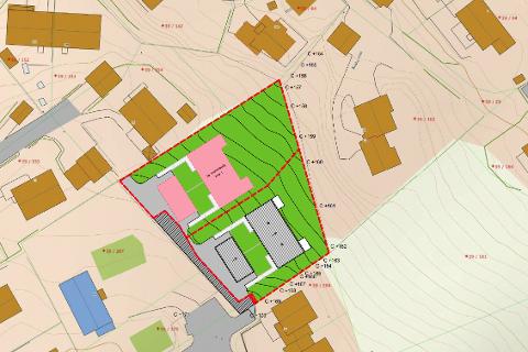 NYE BOLIGER: Forstaden Eiendom AS har overtatt flere eiendommer innerst i Ånebyhaugen. Tomtene er nå slått sammen til en enhet. Utbygger ønsker å sette opp to tomannsboliger på eiendommen.