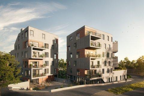 FORNØYD: Megleren sier det er solgt leiligheter i alle prisklasser i forbindelse med at salget av leiligheter i Rotneshagen startet.