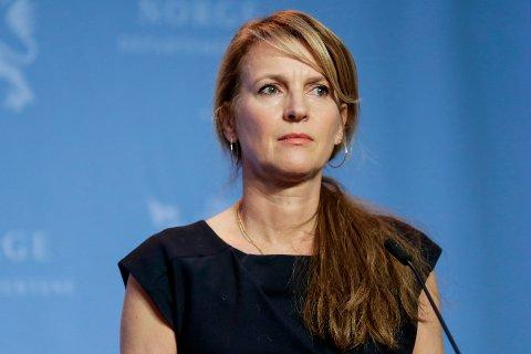 UKJENT SMITTEVEI: Direktør ved Folkehelseinstituttet Camilla Stoltenberg under en pressekonferanse om koronasituasjonen.