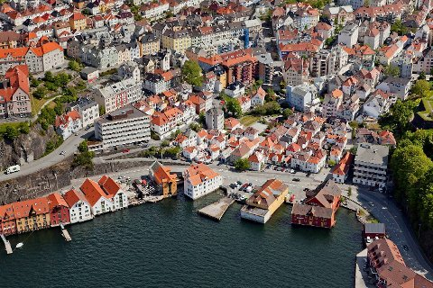 De sesongjusterte boligprisene i Bergen har økt med 1,2 prosent siste kvartal, ifølge SSB.