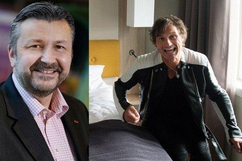 Scandic-sjefen Svein Arild Steen-Mevold slår seg på brystet med at Hotel Norge blir størst i Bergen, mens Petter Stordalens Nordic Choice svarer med at de er aller mest opptatt av å ha fornøyde kunder.