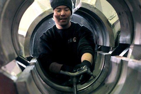 ITM i Florø (bildet) maskinerer og reparerer røyr til oljeinstallasjonane på sokkelen. FOTO: DAVID E. ANTONSEN