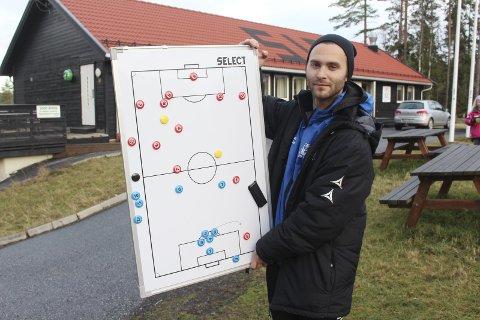 SKUFFET: Christian Qvist Jacobsen er trener for HSVs A-lag som tapte borte mot Navestad mandag kveld.