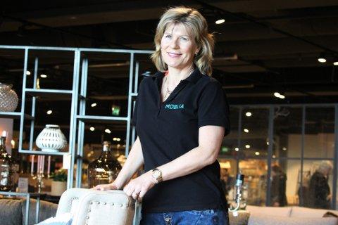 Louise Kleven, deleier av Møblia i Vestby