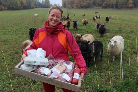 ØKOLOGISK: Stina Mehus i Vestbyveien 190 er en av gårdbrukerne som er med i REKO-ringen i Follo og som vil tilby sine produkter til forbrukerne i distriktet.