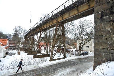 SKRAPHAUG ELLER LANDEMERKE? Meningene om Hølenviadukten er mange. Nå ligger det an til å bli gang- og sykkelvei over den gamle jernbanebrua.
