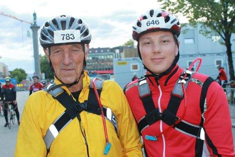 STILLER IGJEN: Mattias Myhre fra Son og morfaren Ronald Aaslie har bestemt seg for å gjøre et nytt forsøk i styrkeprøven neste år.