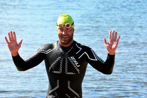 Suveren: Knut Ivan Rasmussen vant Open Water Horten-Moss for femte året på rad med tiden 2.37.18
