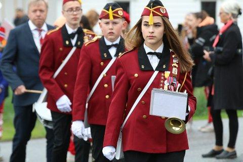 17. MAI: Dette bildet er tatt under 17. mai feiringen i 2018. Da marsjerte Vestby Skolemusikkorps i gatene i Vestby.