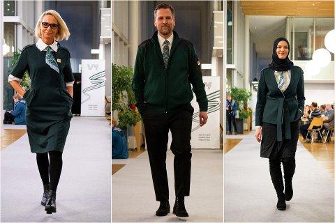 NYE UNIFORMER: Til uka vil Vy-ansatte gå i en dyp grønn uniform.
