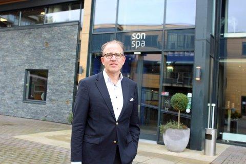 STENGTE DØRER: Direktør Petter Wilhelmsen ved Son Spa har stengt hotellet for tredje gang under pandemien.