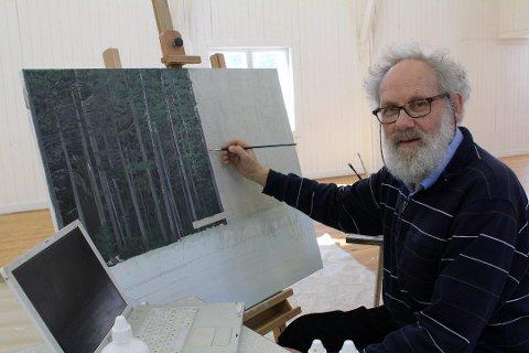 NY UTSTILLING: Ivar Papadopoulos Samuelsen stiller ut 18 verk fra samlingen «Skogsfragmenter» på Ppalett mellom 2. og 30. mars.
