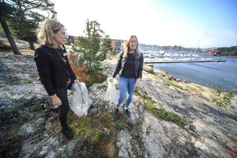 STRANDRYDDEDAG: Ann Jeanette Myrland og Jannet Mathisen ved Son Spa håper mange vil delta på strandryddedagen hotellet inviterer til mandag 29. april.