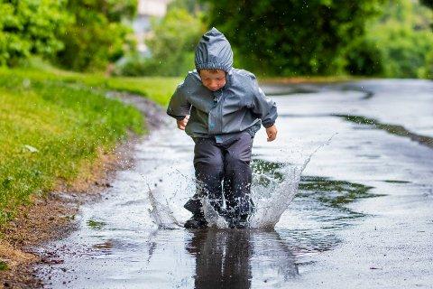 MYE REGN: Det ventes kraftig nedbør i Vestby og resten av Follo de nærmeste dagene.