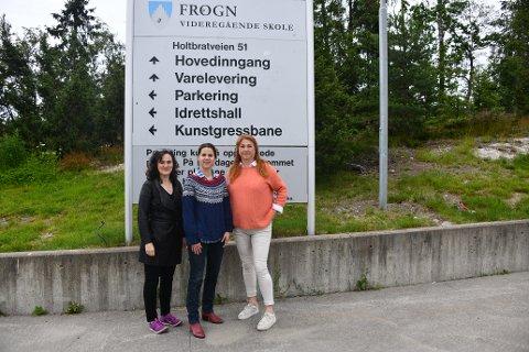 SKOLE: Line Stockholm, Solveig Schytz og Elisabeth Holter-Schøyen representerer Venstre på begge sider av Oslofjorden, og ønsker fritt skolevalg innenfor regionale avgrensninger.