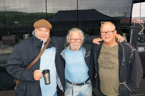 Fra venstre: Initiativtakerne for Kulturdøgn Son Mats Looman og Kai Dybedahl. Til høyre lysmester Espen Solum. BLA FOR FLERE BILDER)