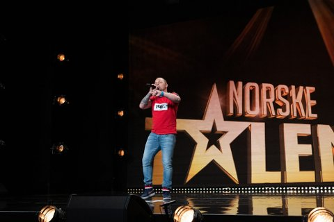 RAPPER FRA VESTBY: Krzysztof Frymarkiewicz er en av de som står på scenen i Norske Talenter fredag.